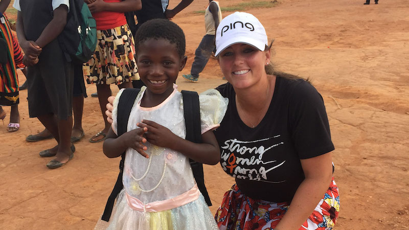 Kendall Dye is Partnering with Golf Fore Africa